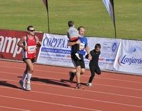 Unidentified runners in the half marathon Córdoba Stock Image