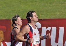 Unidentified runners in the half marathon Córdoba Royalty Free Stock Photography