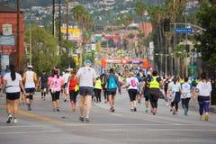 Unidentified runners participating in the 30th LA Marathon Editi Stock Image