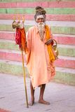 An unidentified sadhu Royalty Free Stock Image