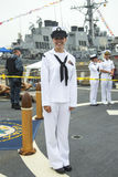 Unidentified sailor during Fleet Week 2014 in New York Royalty Free Stock Image