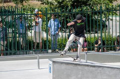 Unidentified skater Stock Images