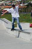 Unidentified skater Royalty Free Stock Photo