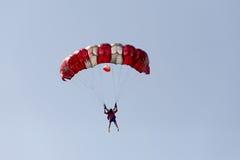 Unidentified skydivers, parachutist Royalty Free Stock Photos
