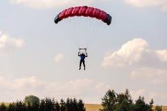 Unidentified skydivers, parachutist Stock Photo