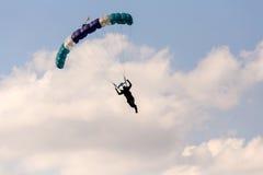 Unidentified skydivers, parachutist Stock Image