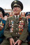 Unidentified smiling World War II veteran Stock Photos
