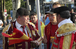 Unidentified Spanish soccer fans before UEFA EURO 2012 match in Royalty Free Stock Photography