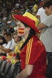 Unidentified Spanish woman-fan Stock Photo