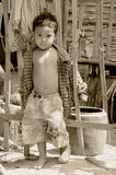 Unidentified street child posing Royalty Free Stock Photography