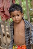 Unidentified street child posing Royalty Free Stock Image