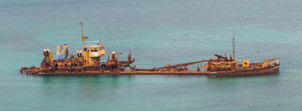 Unidentified sunken vessel Royalty Free Stock Photography