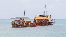 Unidentified sunken vessel Stock Photo