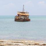 Unidentified sunken vessel Stock Images