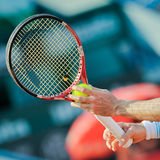 Unidentified tennis player in Royalty Free Stock Photo