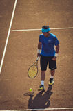 Unidentified tennis player Royalty Free Stock Photography