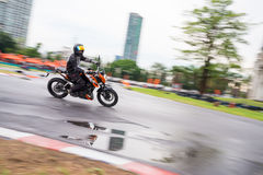 Unidentified test driver KTM Duke 200 Stock Photos
