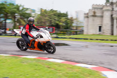 Unidentified test driver KTM RC8 1190 Stock Photo