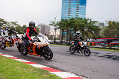 Unidentified test driver KTM RC8 1190 Royalty Free Stock Images