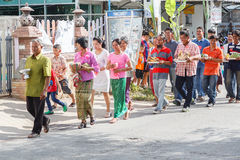 Unidentified Thai people in wedding parade at Thailand. Stock Photography