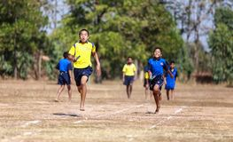 Unidentified Thai students 4 - 12 years old athletes Royalty Free Stock Image