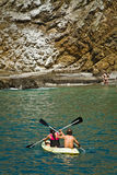 Unidentified tourists enjoying a daytrip kayaking Stock Photography