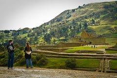 Unidentified tourists visiting Ingapirca important Stock Image