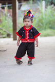 Unidentified traditionally dressed Hmong hill tribe child Stock Images