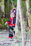 Unidentified traditionally dressed Hmong hill tribe child Stock Image