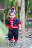 Unidentified traditionally dressed Hmong hill tribe child Royalty Free Stock Photos