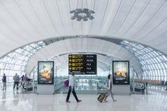 An unidentified travellers at Suvarnabhumi International Airport Stock Image