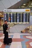 Unidentified travellers at Suvarnabhumi International Airport in Stock Photo