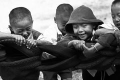 Unidentified tribal children want education opportunity. Stock Photography