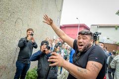 People celebrate Hidirellez Festival in Istanbul,Turkey royalty free stock image