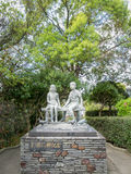Unidentified two childrens statue Royalty Free Stock Photography