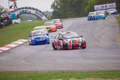 Unidentified various race cars stock photos