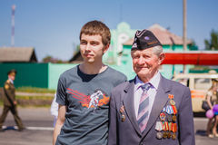Unidentified veteran during the celebration of Victory Day. GOME Stock Image