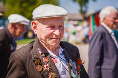 Unidentified veteran during the celebration of Victory Day. GOME Royalty Free Stock Photo