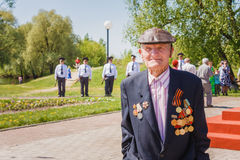 Unidentified veteran during the celebration of Victory Day. GOME Stock Photo
