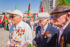 Unidentified veterans during the celebration of Victory Day. GOM Royalty Free Stock Photo