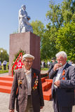 Unidentified veterans during the celebration of Victory Day. GOM Stock Photography