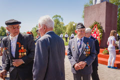 Unidentified veterans during the celebration of Victory Day. GOM Royalty Free Stock Photos