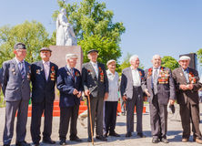 Unidentified veterans during the celebration of Victory Day. GOM Stock Image