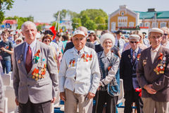 Unidentified veterans during the celebration of Victory Day. GOM Stock Images