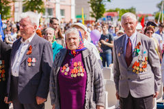 Unidentified veterans during the celebration of Victory Day. GOM Royalty Free Stock Photography