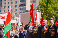 Unidentified veterans during the celebration of Victory Day. GOM Stock Photos