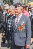 Unidentified veterans during the celebration of Victory Day. MIN Stock Photos