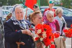 Unidentified veterans during the celebration of Victory Day. MIN Royalty Free Stock Photos