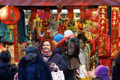 Unidentified Visitors during the Chinese New Year, London China Stock Image