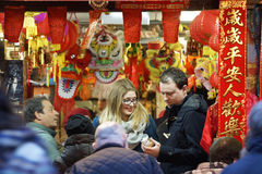 Unidentified Visitors during the Chinese New Year, London China Stock Images